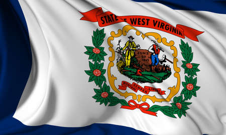 West Virginia flag - USA state flags collection