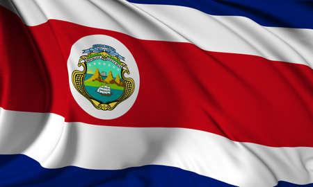 costa rica: Flag of Costa Rica Stock Photo