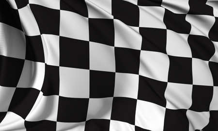 Race flag render photo
