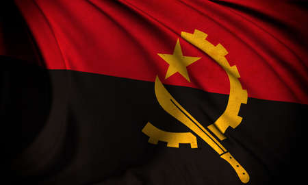 Grunge flag of Angola Stock Photo