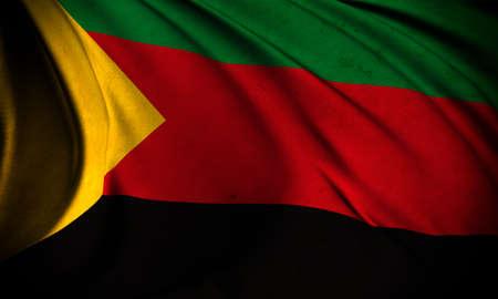 Grunge flag of Azawad Stock Photo