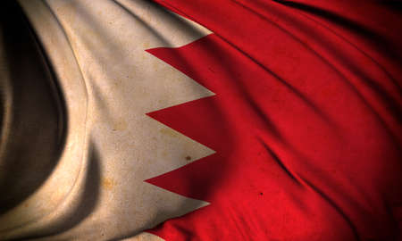 Grunge flag of Bahrain Stock Photo