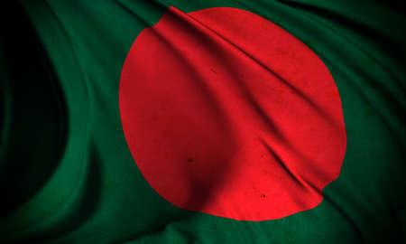Grunge flag of Bangladesh