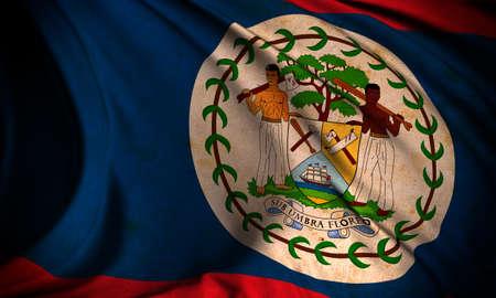 Grunge flag of Belize