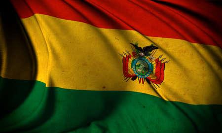 Grunge flag of Bolivia Stock Photo