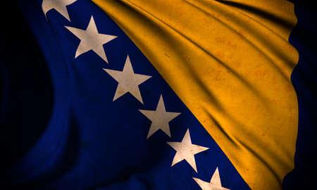 Grunge flag of Bosnia and Herzegovina Stock Photo