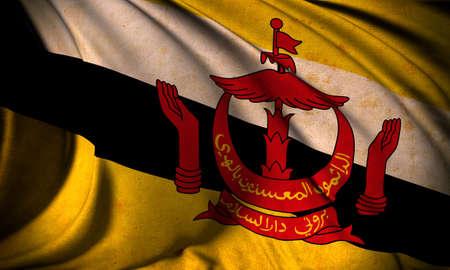 brunei: Grunge flag of Brunei