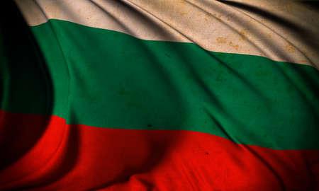Grunge flag of Bulgaria