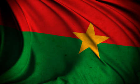 burkina faso: Grunge flag of Burkina Faso Stock Photo