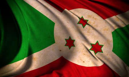 Grunge flag of Burundi