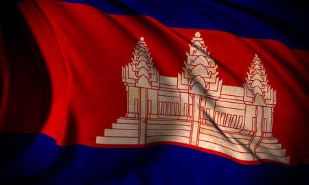 Grunge flag of Cambodia Stock Photo