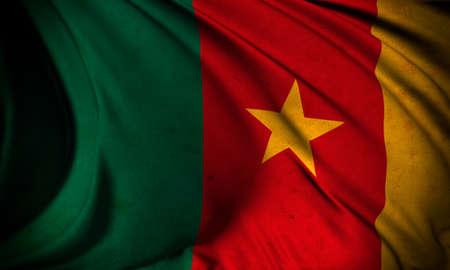 Grunge flag of Cameroon Stock Photo