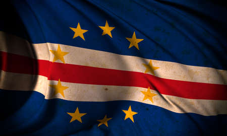cape verde: Grunge flag of Cape Verde Stock Photo