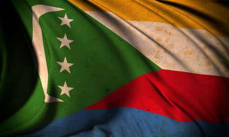 Grunge flag of Comoras