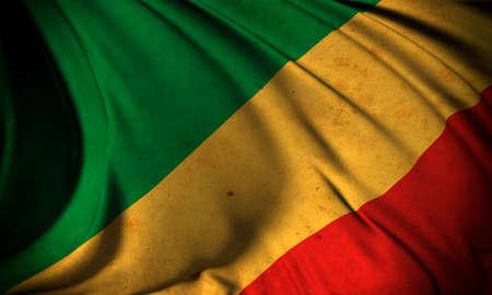 Grunge flag of Congo