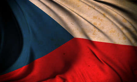 Grunge flag of Czech Republic photo