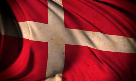 Grunge flag of Denmark Stock Photo