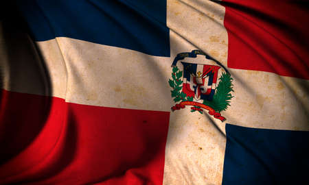 Grunge flag of Dominican Republic