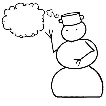 Snowman speech Bubble Illustration