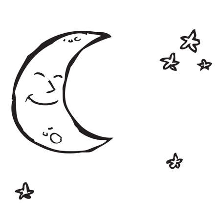 Moon and Stars Doodle