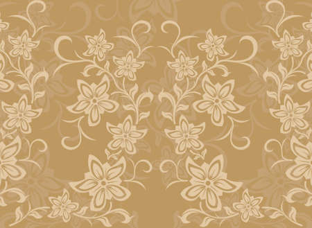 botanica: Abstract vector background with flowers