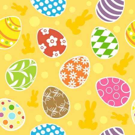 Easter seamless background  illustration Stock Vector - 18518537
