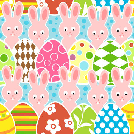 Easter seamless background illustration Stock Vector - 18518546