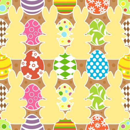 Easter seamless background vector illustration Stock Vector - 18518577