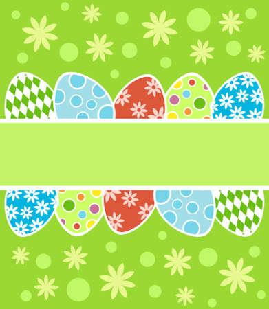 Easter background card vector illustration Stock Vector - 18518563