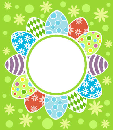 Easter background card vector illustration Stock Vector - 18518565
