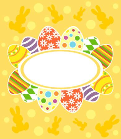 Easter background card vector illustration Stock Vector - 18518594