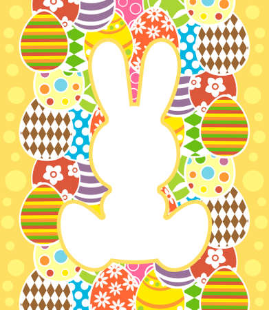 Easter background card vector illustration Stock Vector - 18518582