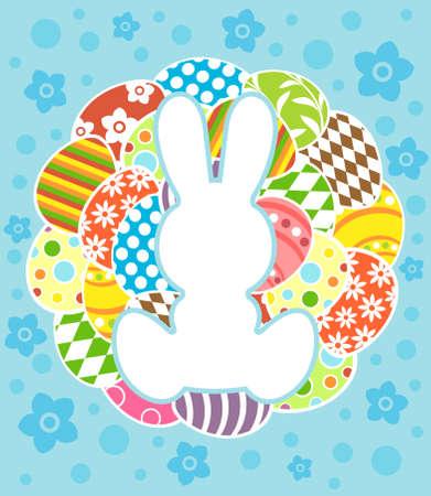 Easter background card vector illustration Stock Vector - 18518575
