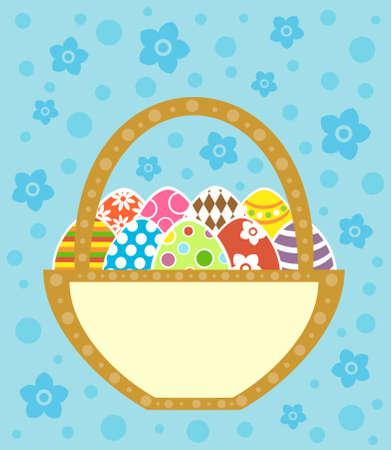 Easter background card vector illustration Vector