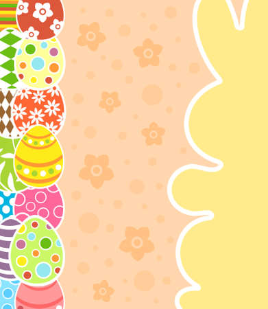 Easter background card vector illustration Stock Vector - 18518540