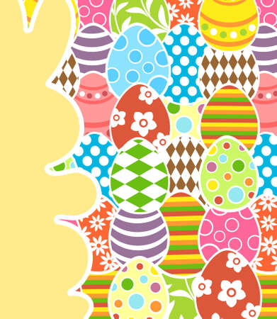 Easter background card vector illustration Stock Vector - 18518579