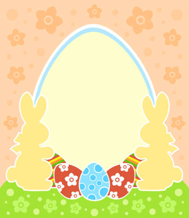 Easter background card with bunny and eggs Stock Vector - 18677855