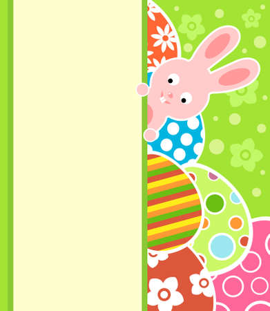 Easter background card with eggs and bunny Stock Vector - 18677847