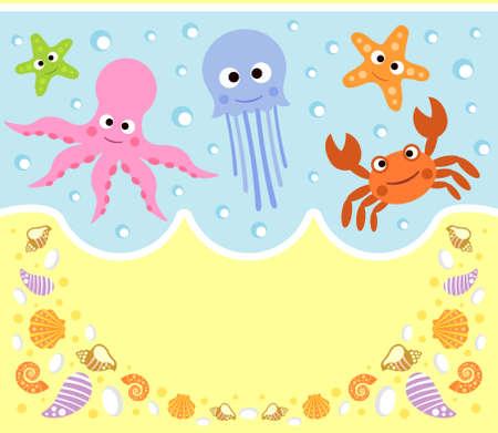 Dibujos Animados Fondo Del Mar Fondos de Mar Animados