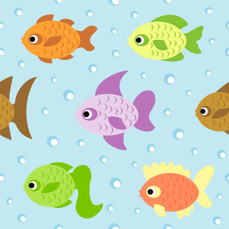 Background seamless card  with fish