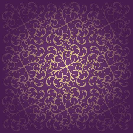 Floral purple  baroque  background