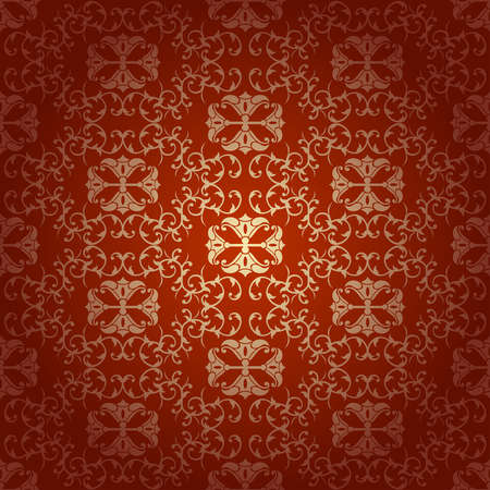 baroque background:  Seamless floral baroque background  red