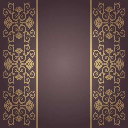 Background vintage ,baroque vector with flowers