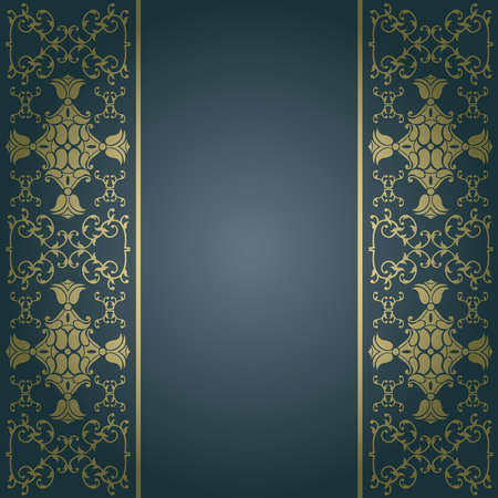 Background baroque,vintage vector with flowers Illustration