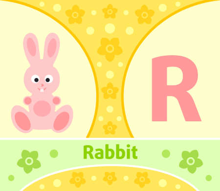The English alphabet with Rabbit Vector