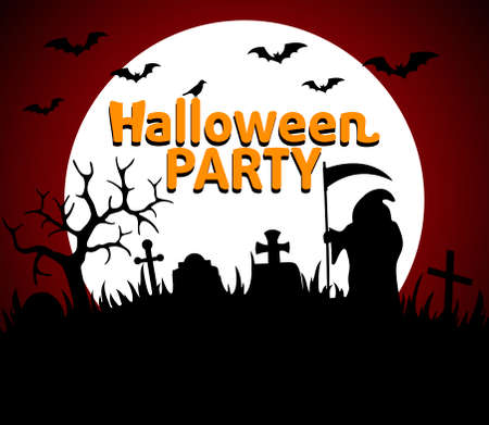 Halloween Party background red vector Vector