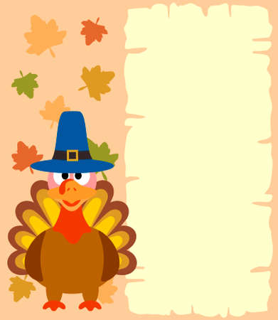 Thanksgiving  background with turkey vector Vector