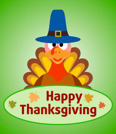 Thanksgiving day background with turkey vector Illustration