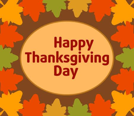 Autumn Thanksgiving  Day background  vector Illustration