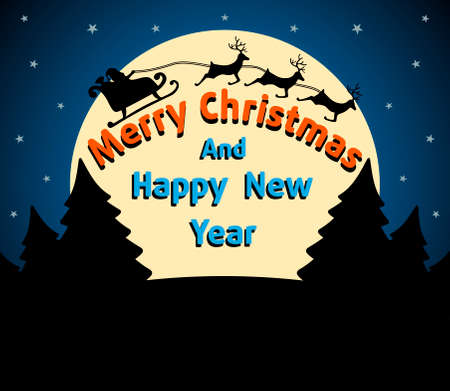 Christmas and New Year background card blue Vector